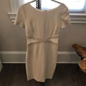 Halston Heritage Dresses - Halston Heritage White bandage/ cutout dress